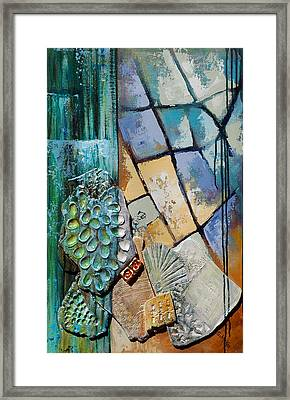 Shards Water Clay And Fire Framed Print by Suzanne McKee