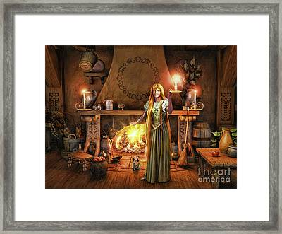Framed Print featuring the painting Share My Fire And Candle Light by Dave Luebbert
