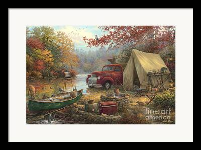 Great Outdoors Paintings Framed Prints