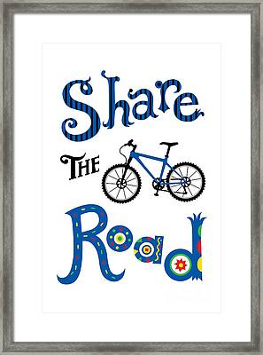 Share The Road Framed Print by Andi Bird