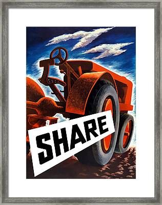 Share  Framed Print by War Is Hell Store