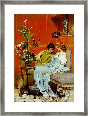 Sharing Secrets 1869 Framed Print by Padre Art