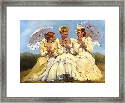 Sharing Secrets Framed Print by Catherine Marchand