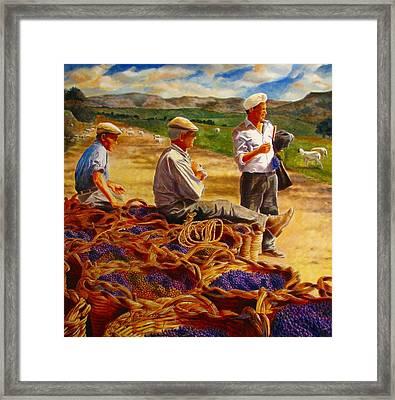 Sharing The Harvest Framed Print