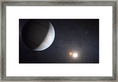 Sharing Two Suns Framed Print