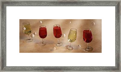 Sharing Wine Framed Print