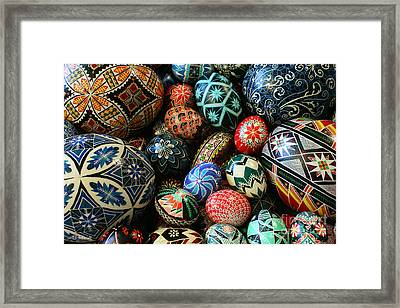 Shari's Ukrainian Eggs Framed Print