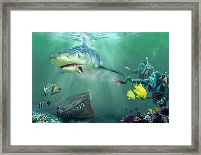Shark Bait Framed Print by Don Olea