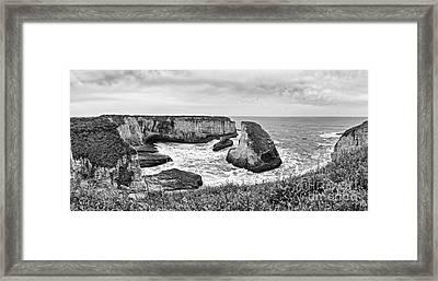 Shark Fin Cove Panorama Framed Print