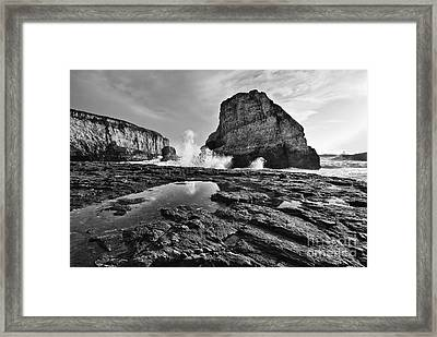 Shark Fin Cove Reflection Framed Print