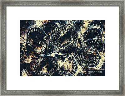 Shark Jaws Framed Print