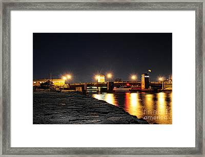 Shark River Inlet At Night Framed Print by Paul Ward