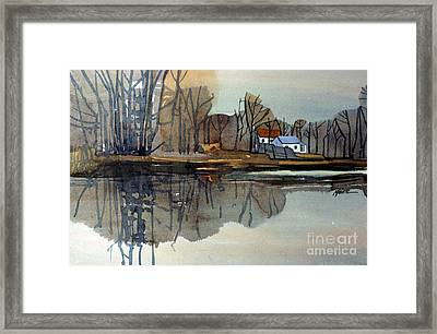 Shark River Reflections Framed Print by Donald Maier