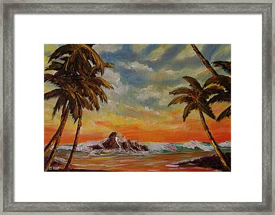Sharks Cove North Shore Oahu #394 Framed Print by Donald k Hall
