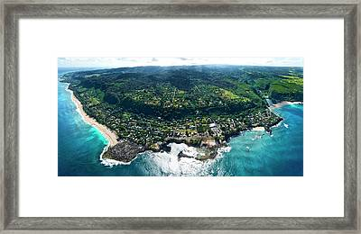 Sharks Cove - North Shore Framed Print by Sean Davey