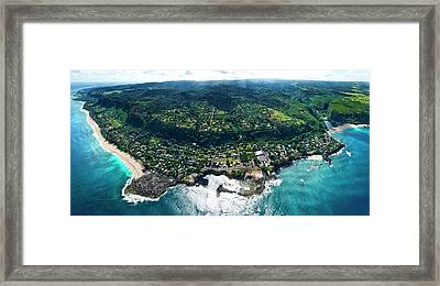 Sharks Cove Overview. Framed Print by Sean Davey