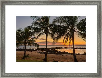 Sharks Cove Sunset 4 - Oahu Hawaii Framed Print by Brian Harig