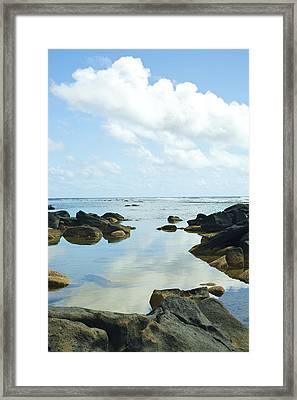 Sharks Heiau On Kauai Framed Print