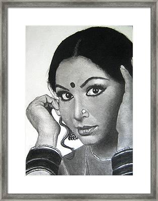 Sharmila Tagore Framed Print