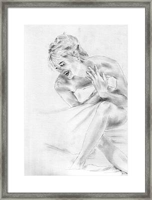 Sharon Stone Framed Print by Jessica Rose