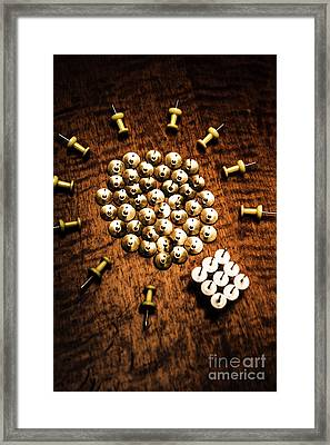 Sharp Business Idea Framed Print
