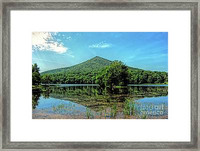 Framed Print featuring the photograph Sharp Top Mountain At Abbott Lake - Peaks Of Otter by Kerri Farley