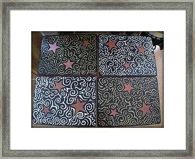 Sharpie Star Tv Table Set Framed Print
