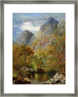 Sharpitor Rocks Framed Print by William Widgery