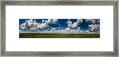 Sharps Creek Road Panorama Framed Print