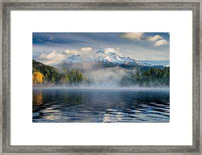 Shasta Mists And Morning 1 Framed Print by Greg Nyquist