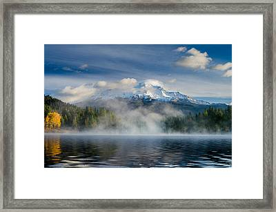 Shasta Mists And Morning 2 Framed Print by Greg Nyquist