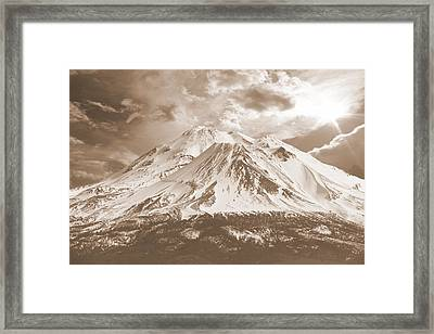 Framed Print featuring the photograph Shasta Mt by Athala Carole Bruckner