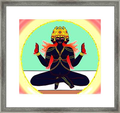 Shatruvidhvamsini Framed Print by Pratyasha Nithin