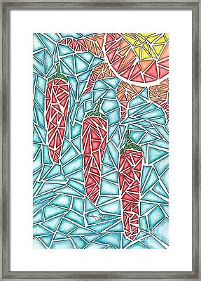 Shattered Chilis Framed Print
