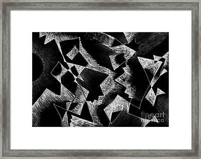 Shattered - Dark Version Framed Print by Helena Tiainen