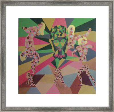 Framed Print featuring the painting Shattered by Erika Chamberlin