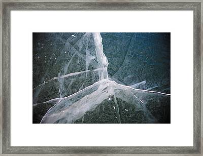 Shattered Ice Framed Print