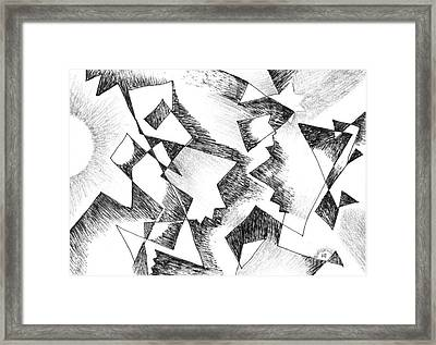 Shattered - Light Version Framed Print