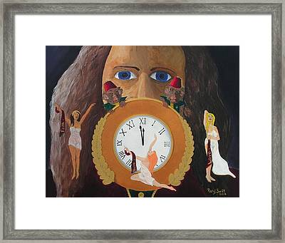 Framed Print featuring the painting Time Travel And Prophets by Rand Swift