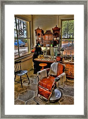 Shave And A Haircut 2 Bits Framed Print by Michael White