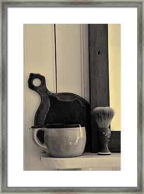 Shaving Brush And Mug Framed Print
