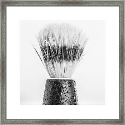 Framed Print featuring the photograph Shaving Brush by Gary Gillette