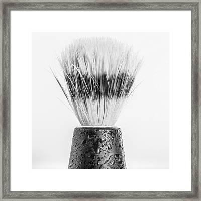 Shaving Brush Framed Print