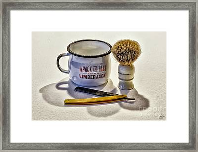 Framed Print featuring the photograph Shaving Still Life by Walt Foegelle