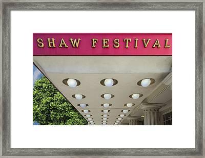 Shaw Festival Framed Print by Paul Wear