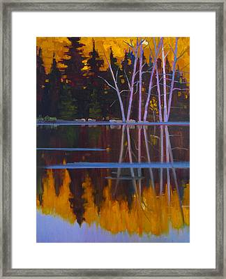 Shaw Lake Reflections Framed Print by Susan McCullough