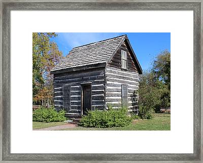 Shawnee Cabin Framed Print by John Adams