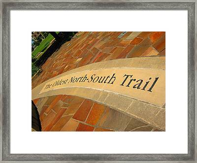 Shawnee Trail Framed Print by Diana Moya
