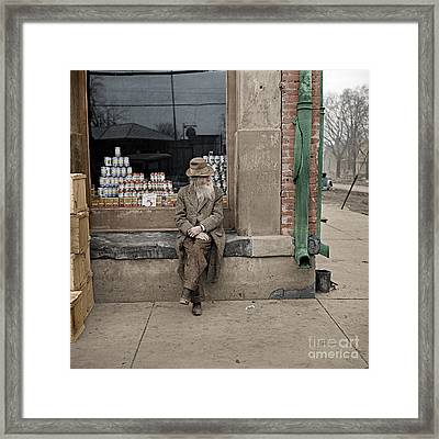 Shawneetown Colourised Framed Print by Russ Brown