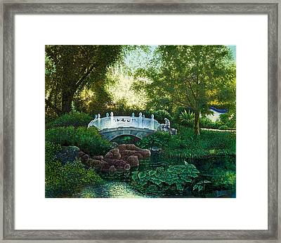 Framed Print featuring the painting Shaw's Chinese Garden by Michael Frank